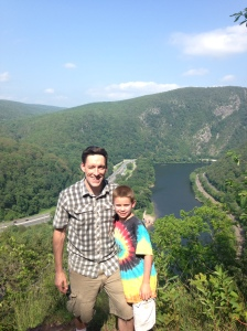 First overlook of the Delaware Water Gap