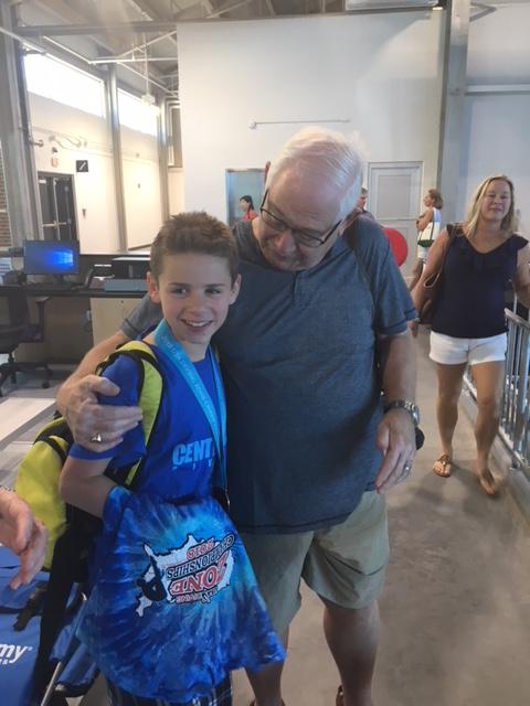 Alex Diver hugs his Pop Pop