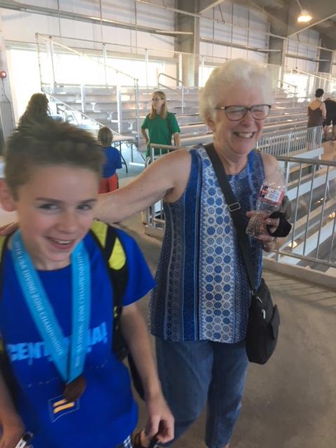 Alex Diver hugs grandma